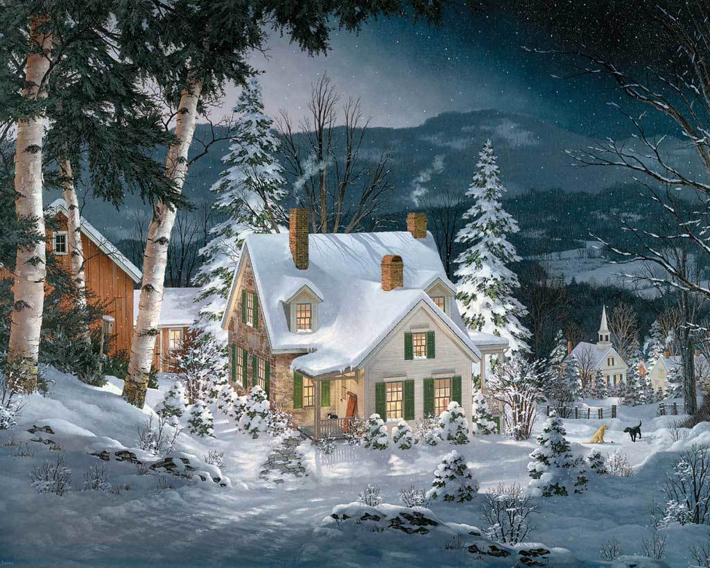 Friends in Winter - 1000pc Jigsaw Puzzle by White Mountain