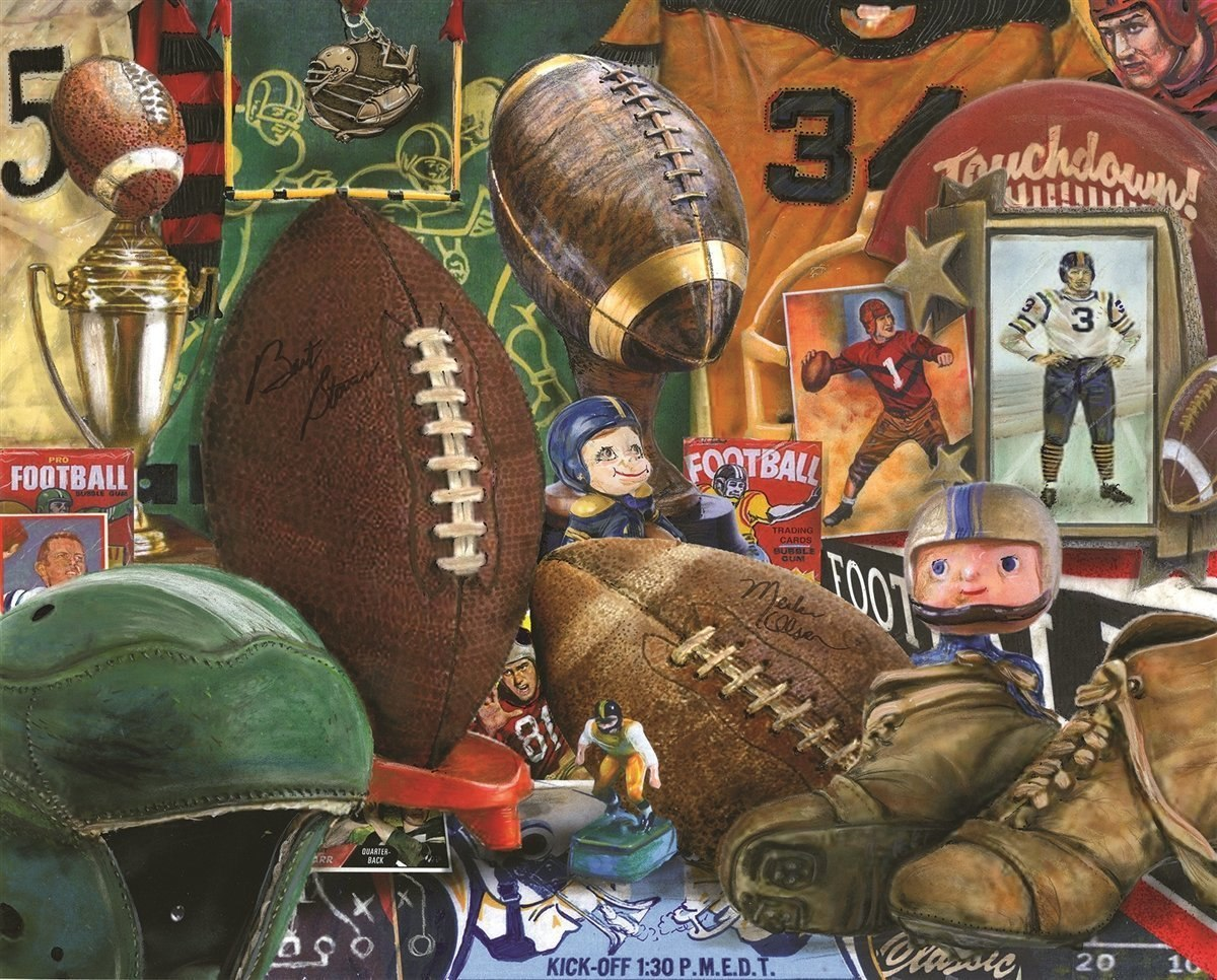 Vintage Football - 1000pc Jigsaw Puzzle By Springbok  			  					NEW