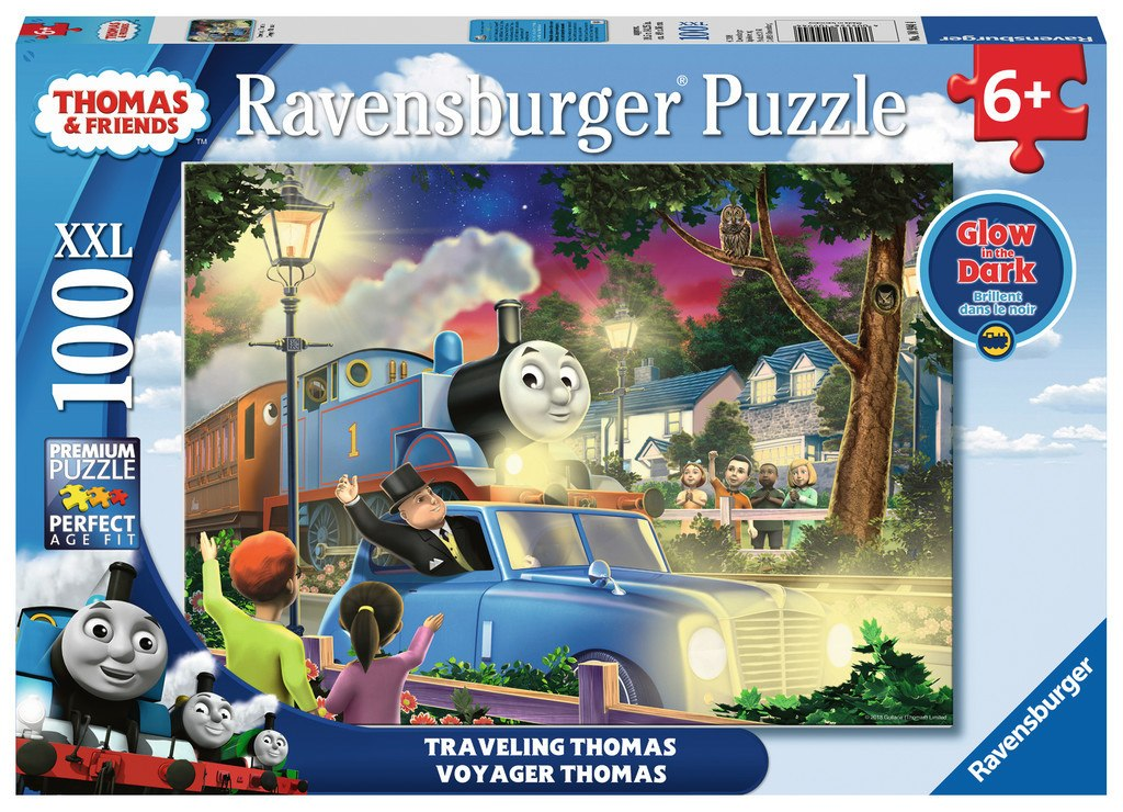 Travelling Thomas - 100pc Glow-in-the-Dark Jigsaw Puzzle By Ravensburger  			  					NEW