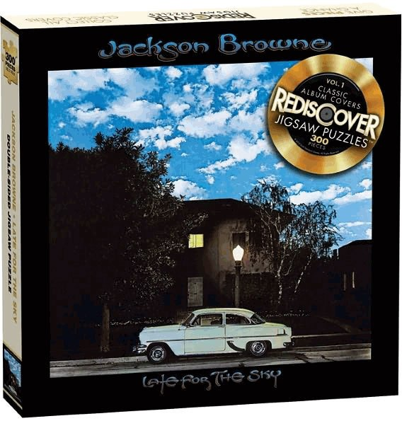 "Jackson Browne ""Late for the Sky"" - 300pc Double Sided Jigsaw Puzzle by Rediscover"