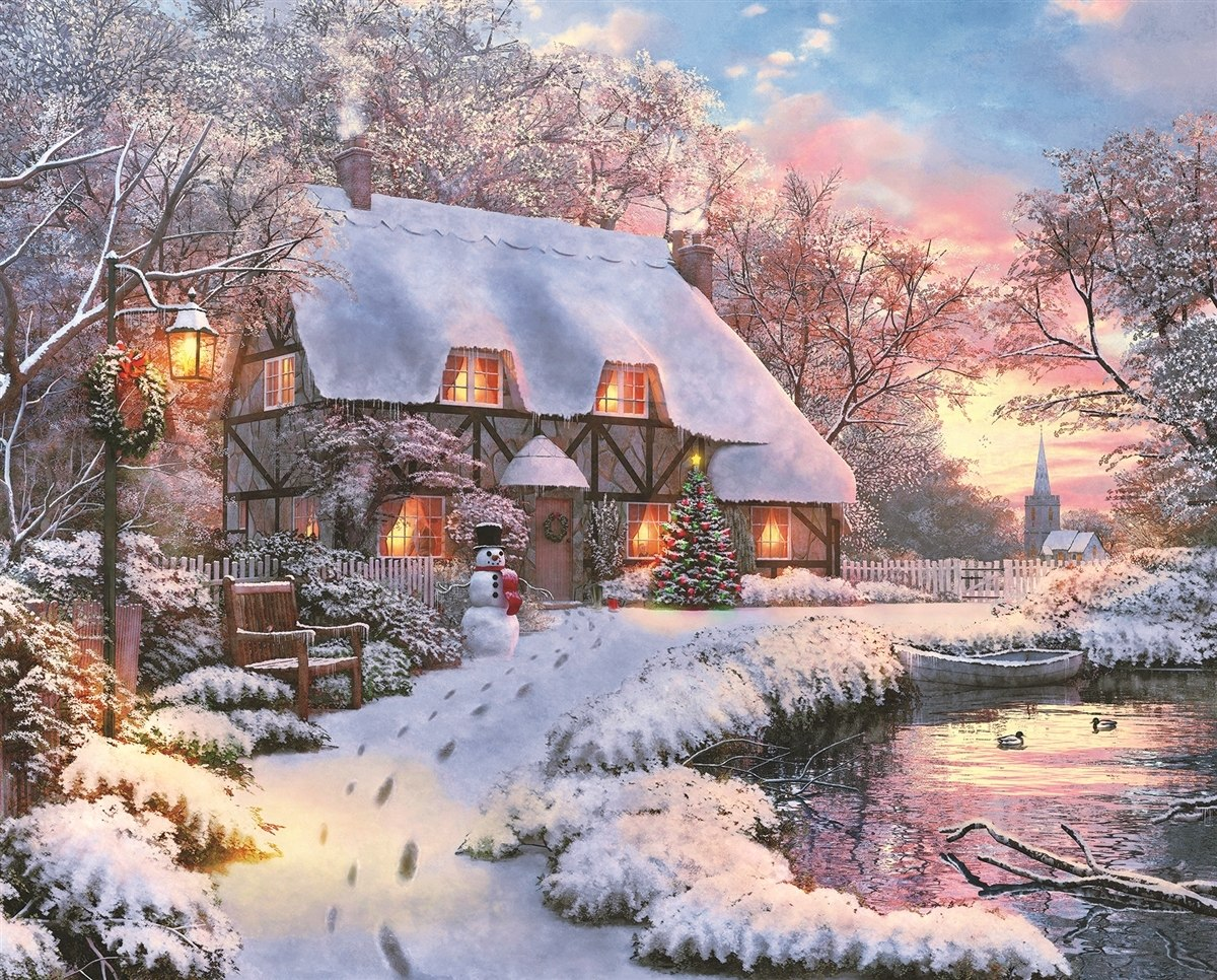 Winter Retreat - 1000pc Jigsaw Puzzle by Springbok  			  					NEW