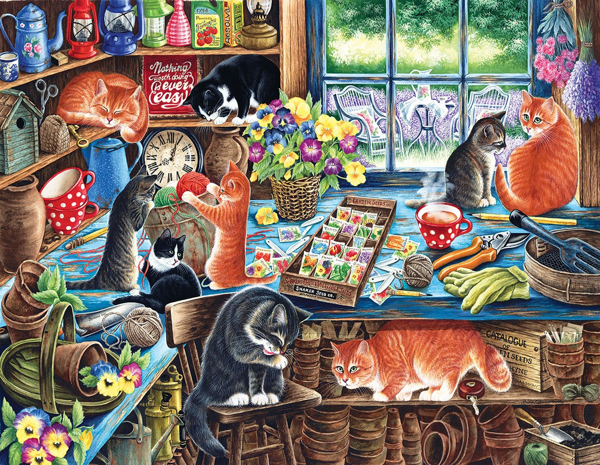 In a Garden Shed - 1000+pc Jigsaw Puzzle By Sunsout  			  					NEW