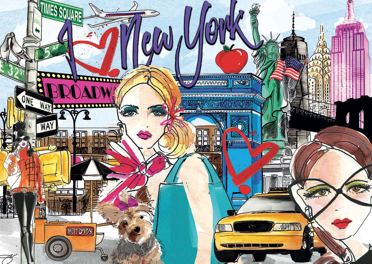 Take Me to New York - 500pc Jigsaw Puzzle by Educa  			  					NEW