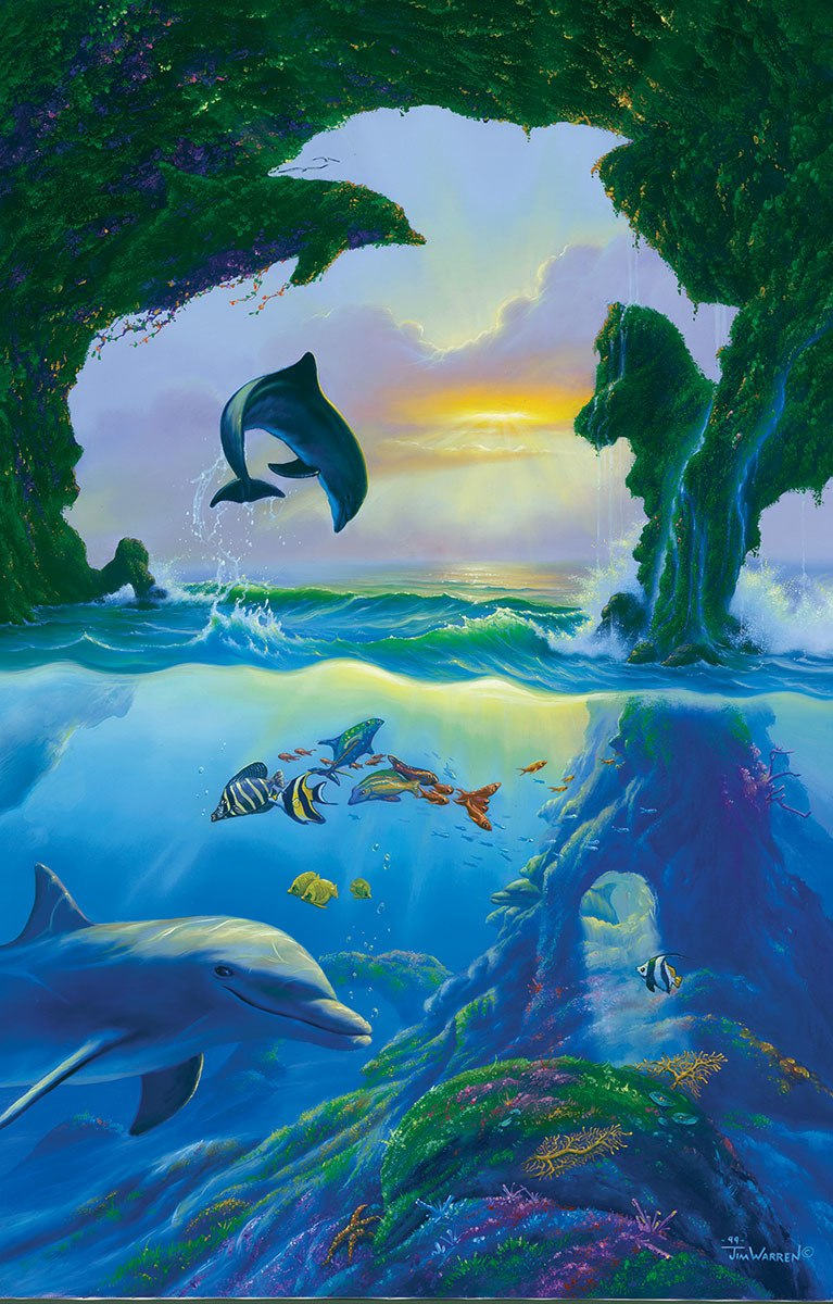 7 dolphins - 1000pc Jigsaw Puzzle By Sunsout  			  					NEW