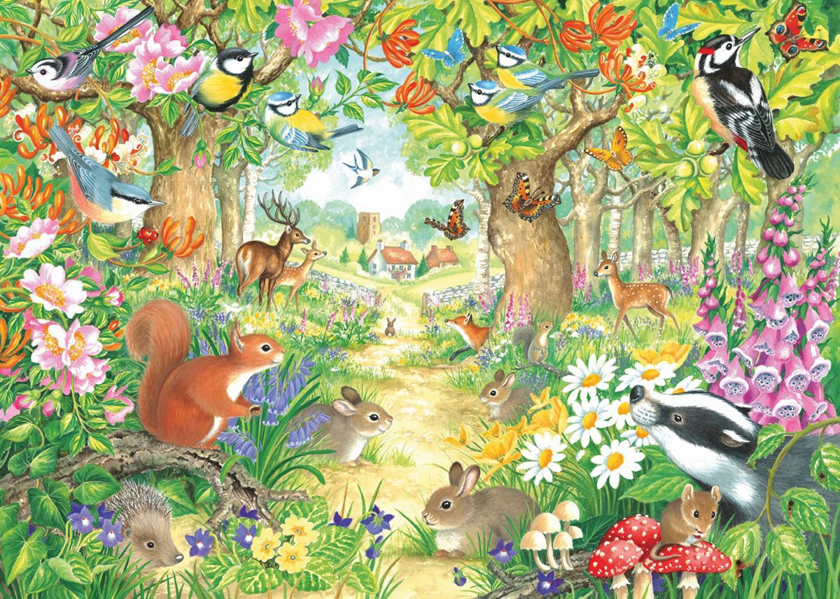 A Woodland Trail - 1000pc Jigsaw Puzzle By Falcon  			  					NEW