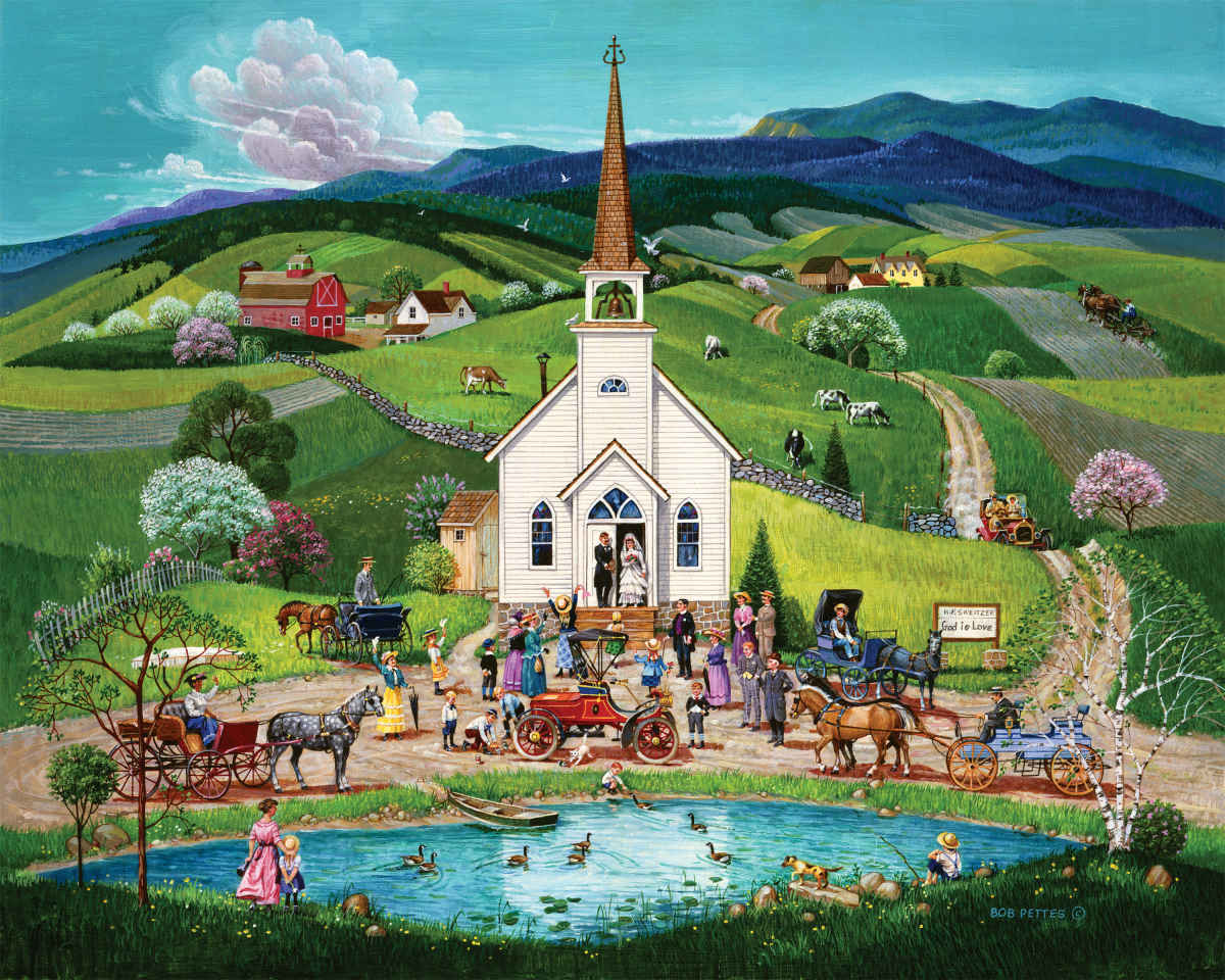 Spring Wedding - 1000pc Jigsaw Puzzle By Springbok