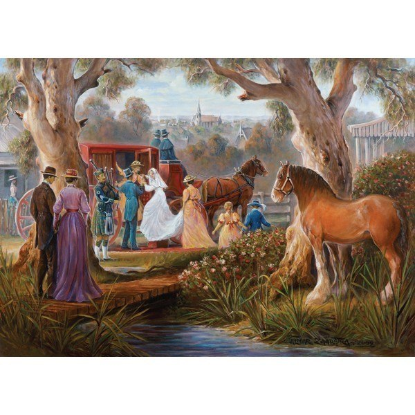 Redgum Ranges: Carriage Marriage - 1000pc Jigsaw Puzzle by Holdson  			  					NEW