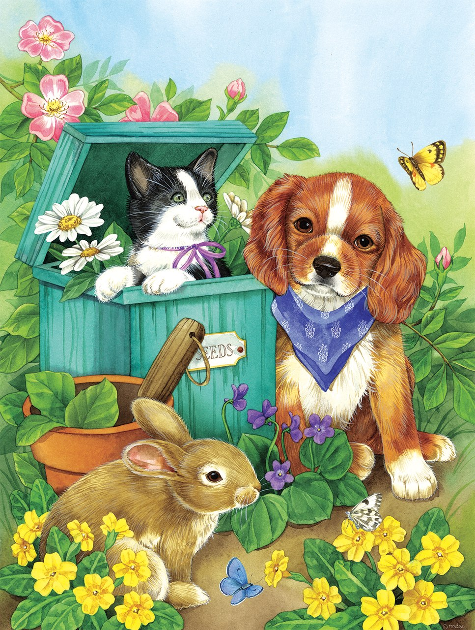 Precious Pets - 500pc Jigsaw Puzzle by Sunsout  			  					NEW