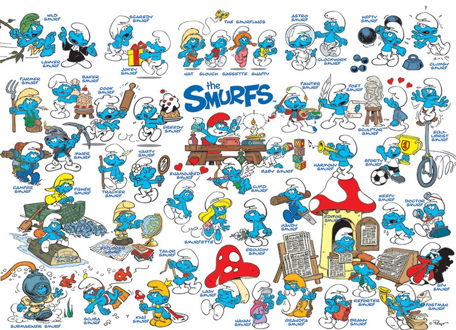 The Smurfs: Feelin' Smurfy - 1000pc Jigsaw Puzzle by Cobble Hill