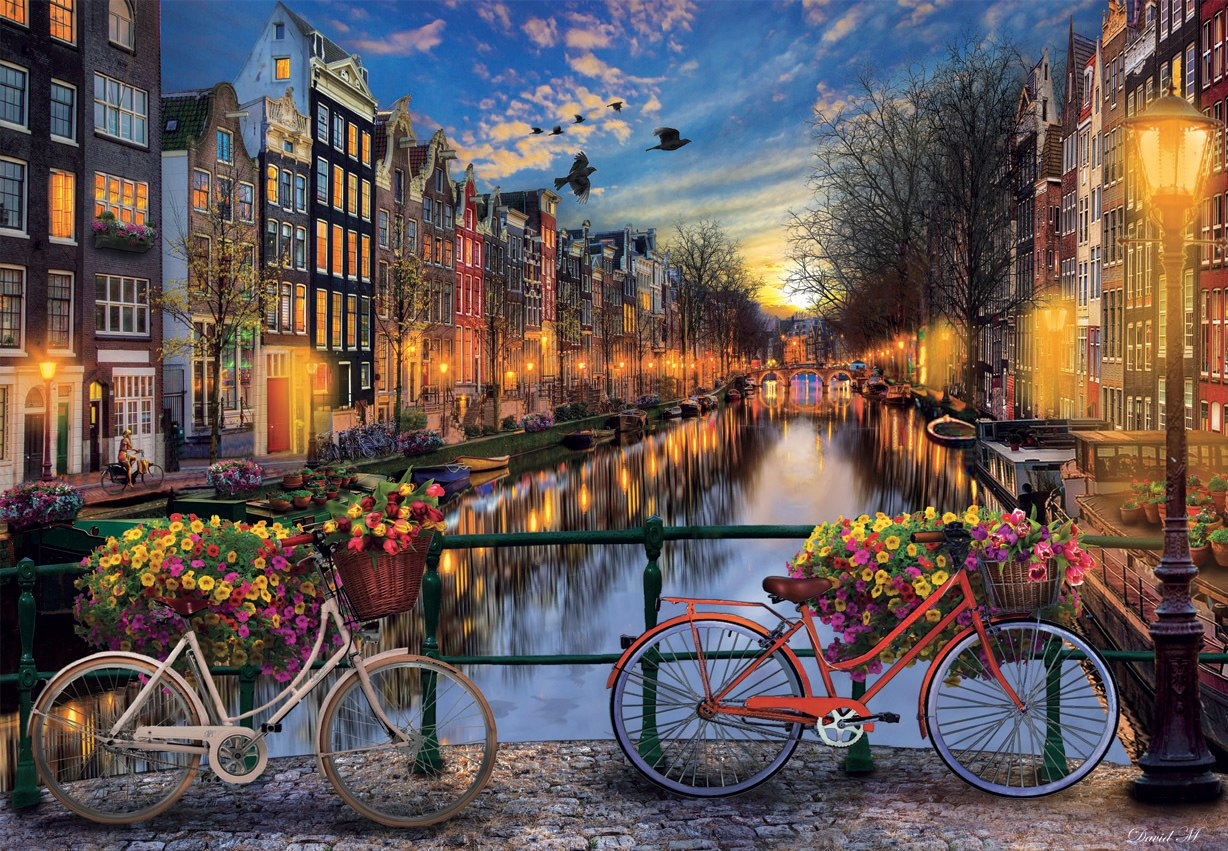Amsterdam With Love - 2000pc Jigsaw Puzzle by Educa