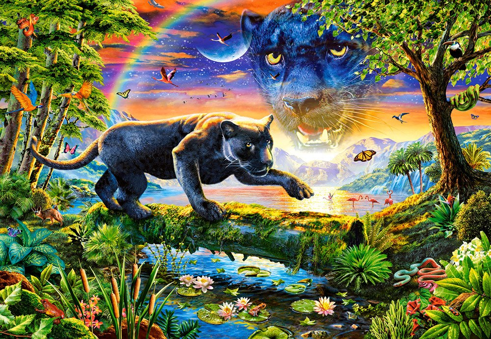 Panther Twilight - 1500pc Jigsaw Puzzle By Castorland