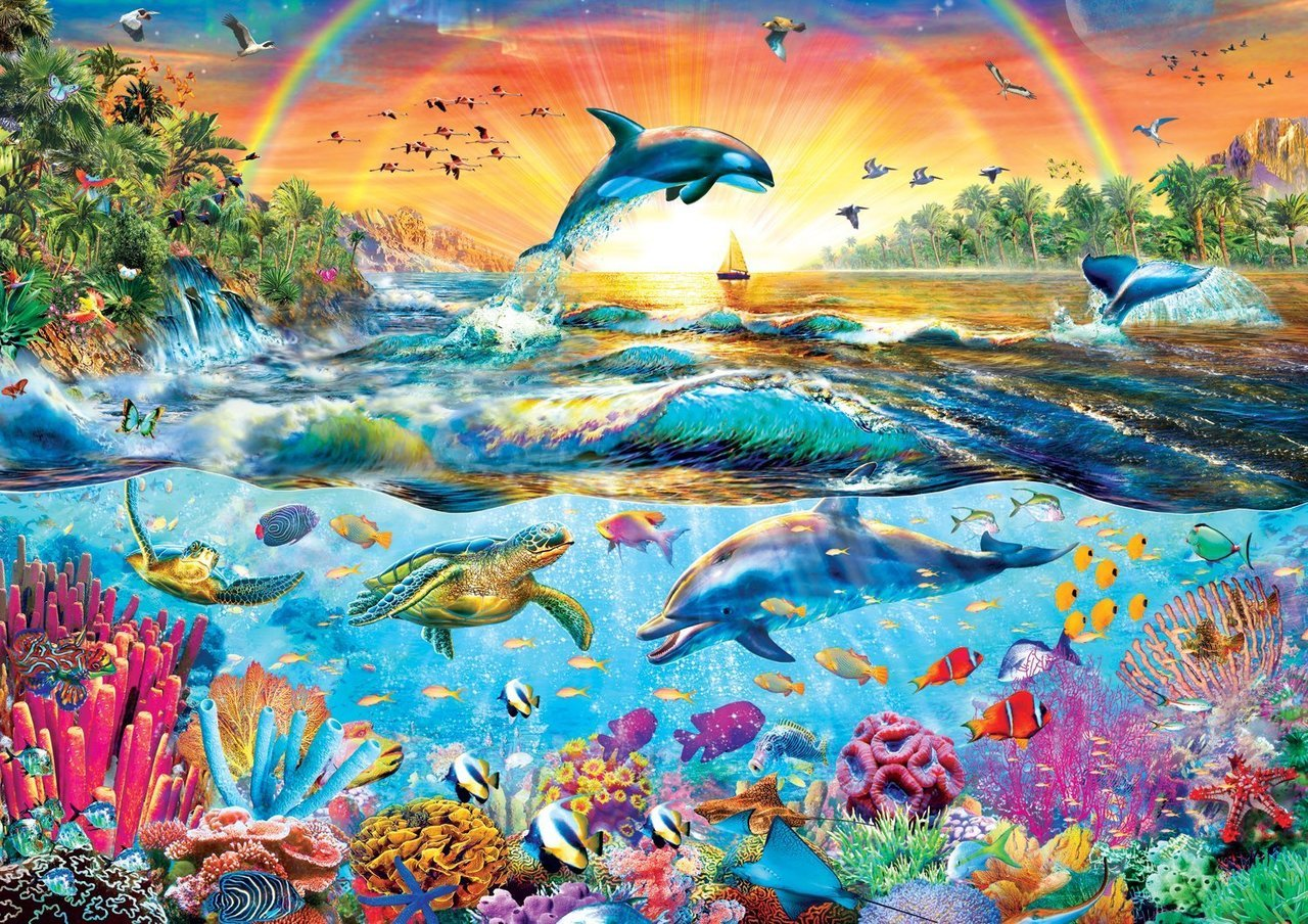 Amazing Nature: Tropical Paradise - 500pc Jigsaw Puzzle by Buffalo Games