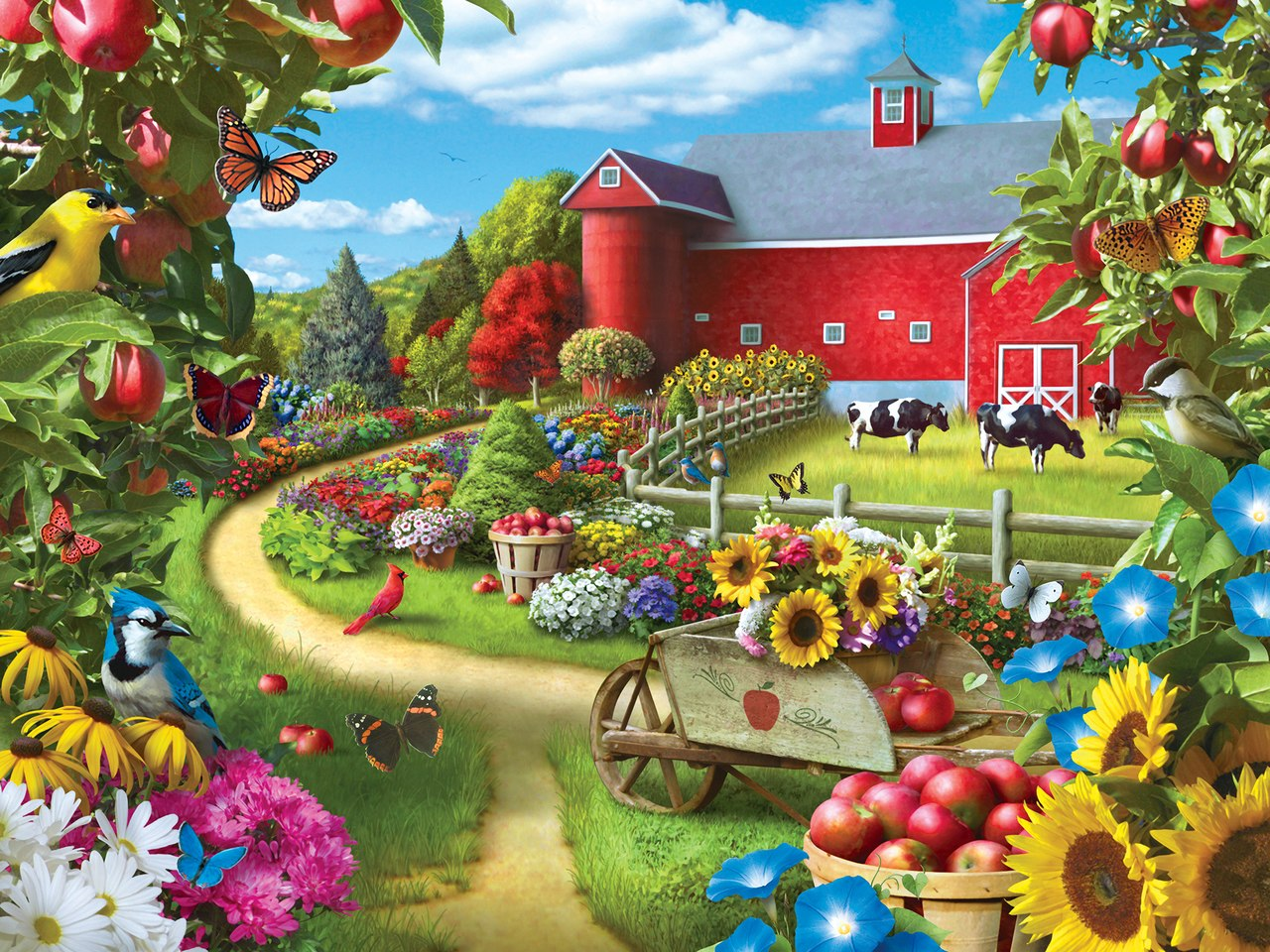 Apple of My Eye - 400pc Jigsaw Puzzle by Masterpieces  			  					NEW
