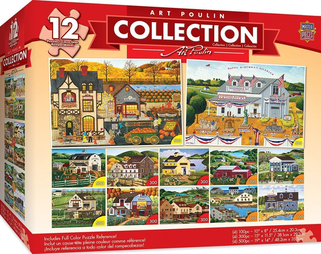 Art Poulin - 12 Pack Collection - Jigsaw Puzzle by Masterpieces  			  					NEW