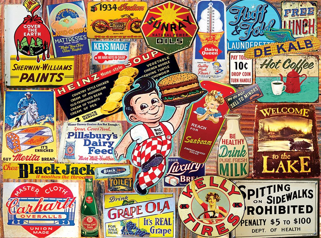 Tin Signs - 300pc Jigsaw Puzzle by White Mountain