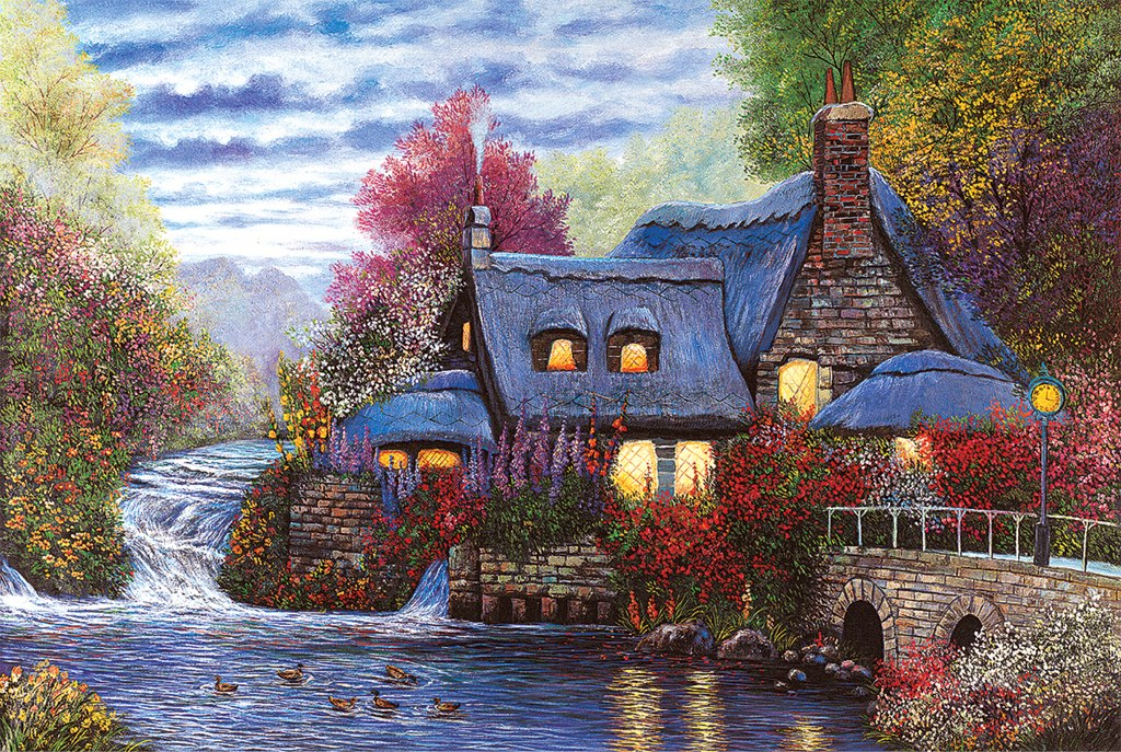 Sunset Cottage - 1000pc Jigsaw Puzzle by Tomax - image main