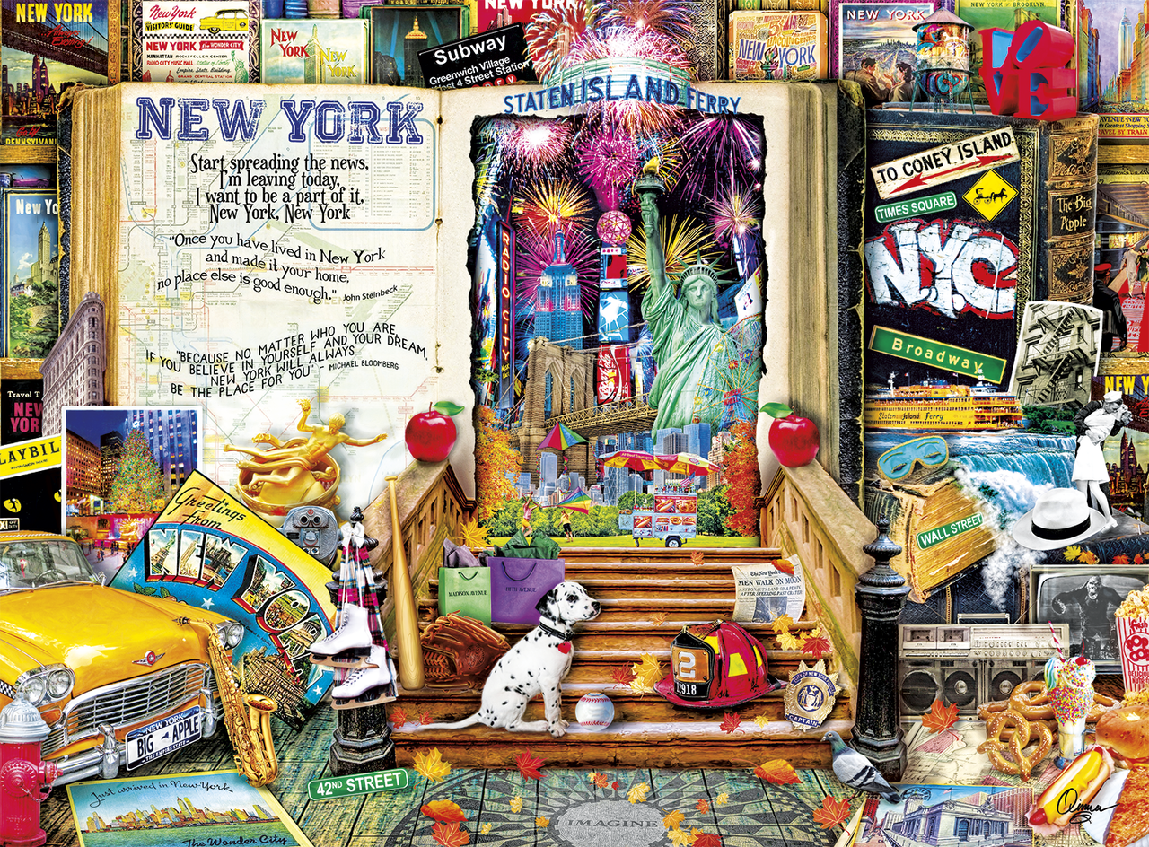 Aimee Stewart: Life Is An Open Book (New York) - 1000pc Jigsaw Puzzle By Buffalo Games