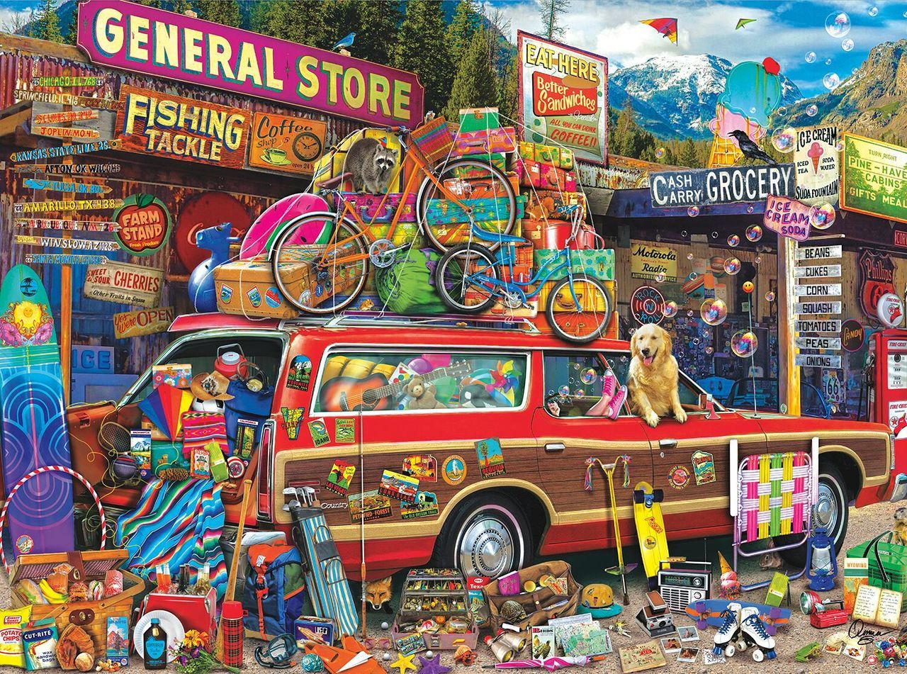 Family Vacation - 1000pc Jigsaw Puzzle By Buffalo Games  			  					NEW