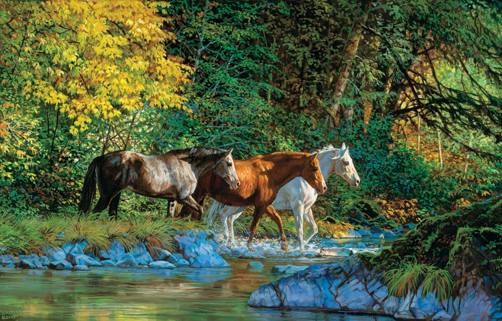 Bear Creek Crossing - 1000pc Jigsaw Puzzle By Sunsout