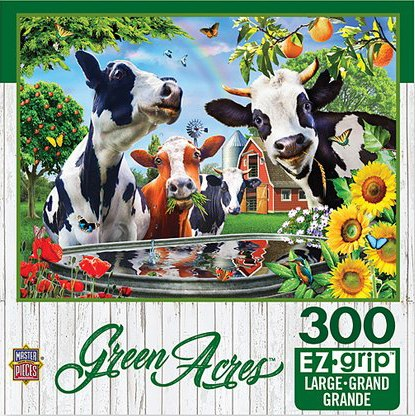 Green Acres: Moo Love - 300pc EzGrip Jigsaw Puzzle by Masterpieces  			  					NEW