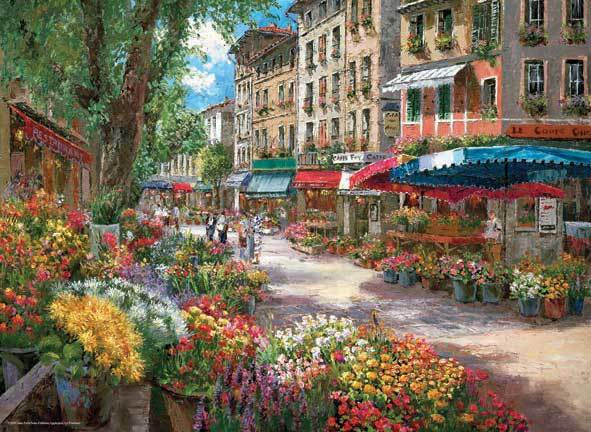 Paris Flower Market - 1000pc Jigsaw Puzzle by Anatolian
