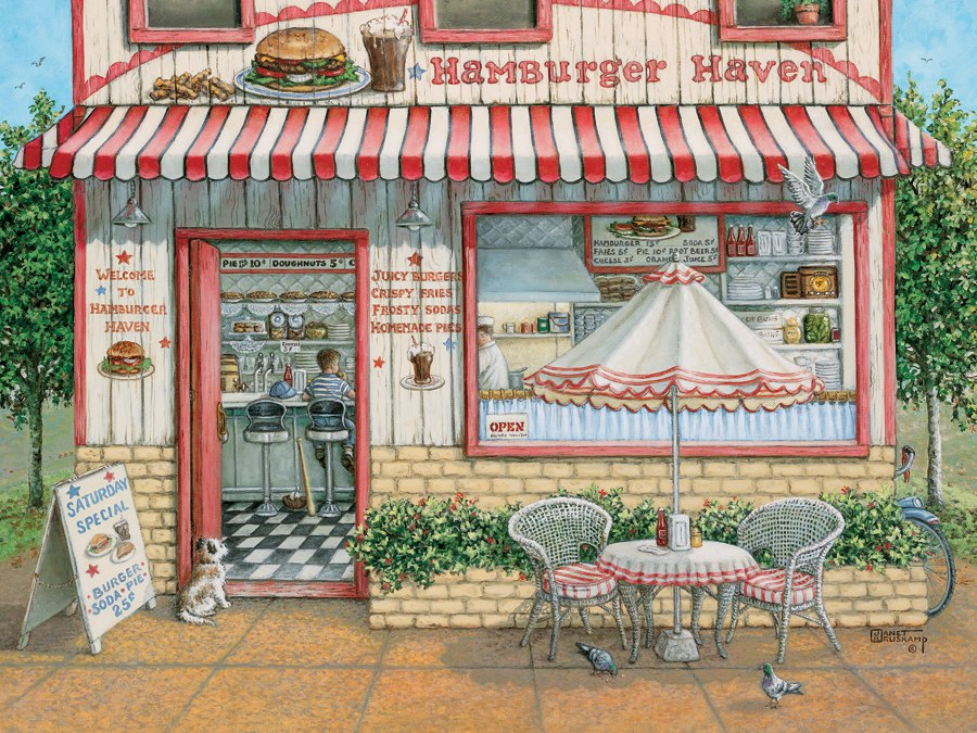 Hamburger Haven - 500pc Jigsaw Puzzle By Cobble Hill