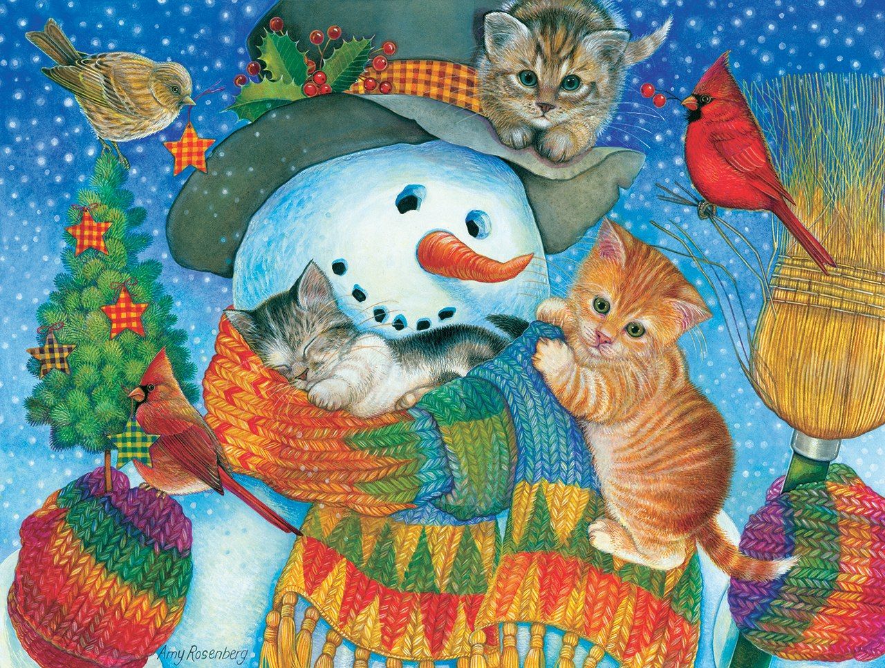 Snowman Cuddles - 500pc Jigsaw Puzzle by Sunsout  			  					NEW