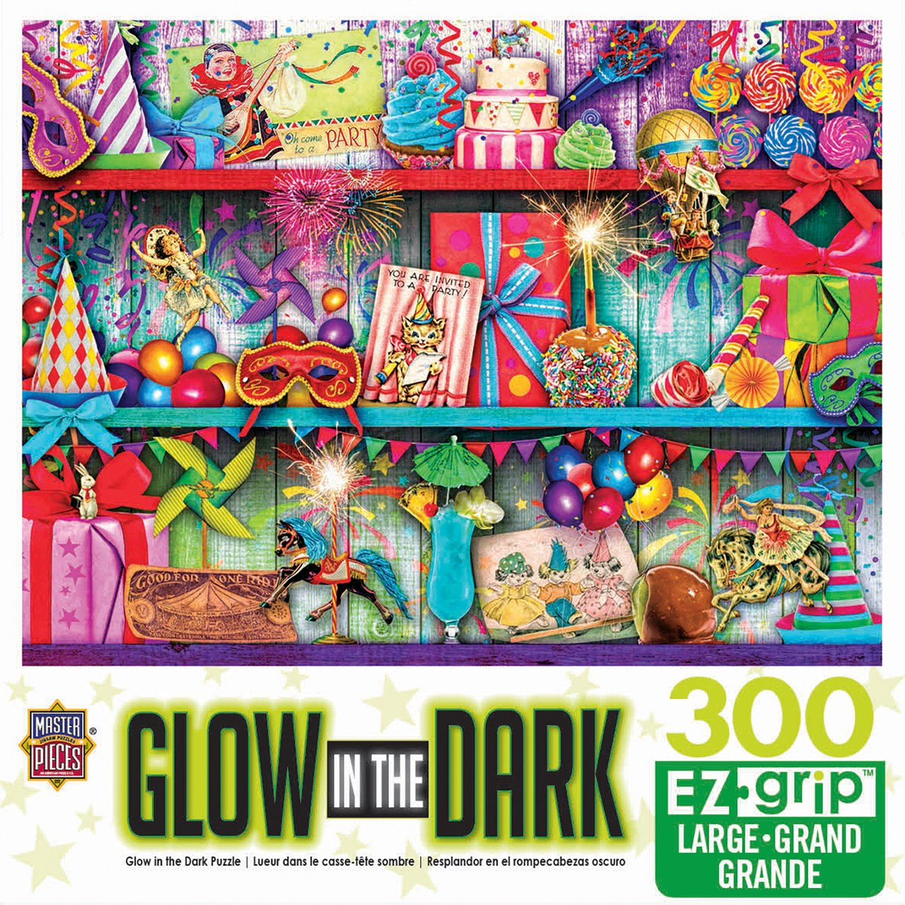 Glow In The Dark: Celebrate Good Times - 300pc EzGrip Jigsaw Puzzle by Masterpieces  			  					NEW - image 1