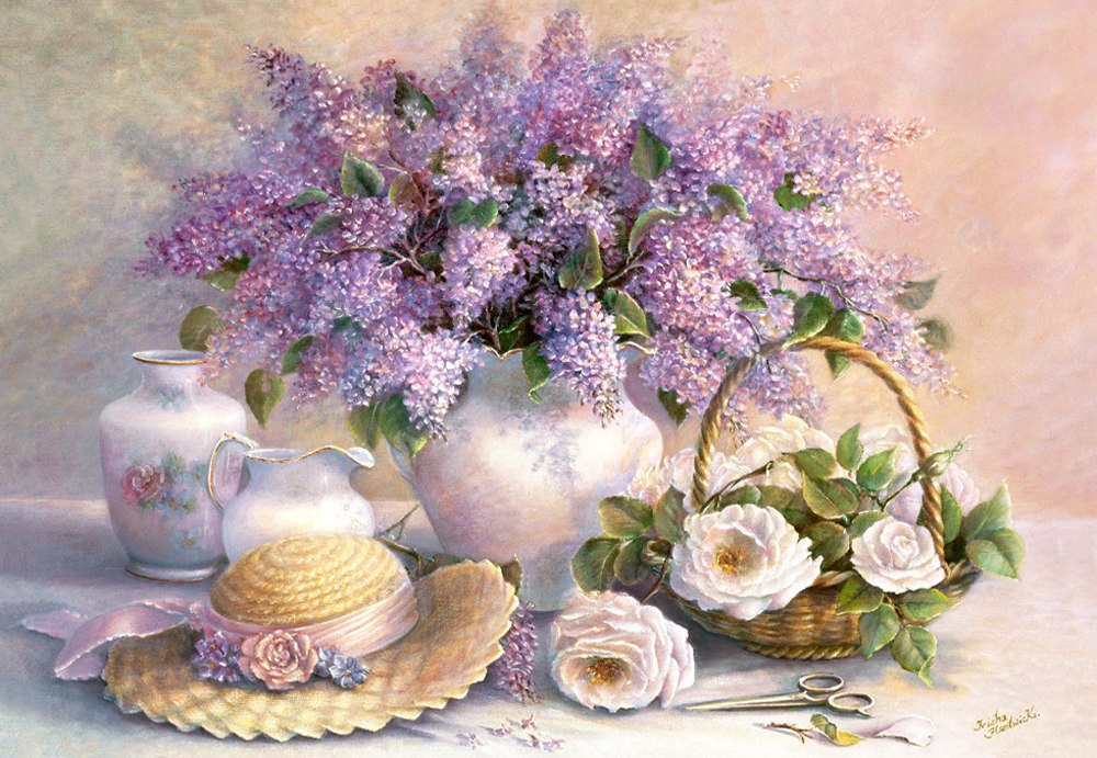 Flower Day, Trisha Hardwick - 1000pc Jigsaw Puzzle By Castorland