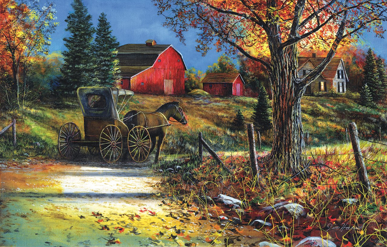 Country Roadside - 1000pc Jigsaw Puzzle by Sunsout  			  					NEW