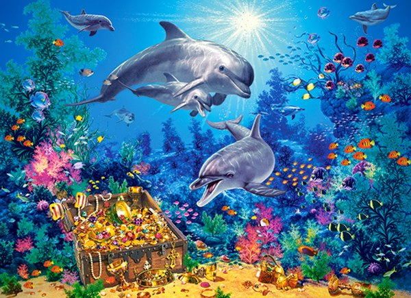 Dolphin Family - 300pc Jigsaw Puzzle By Castorland  			  					NEW