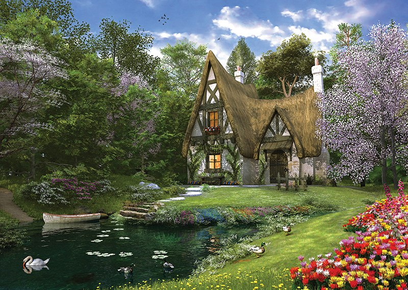 Spring Lake Cottage - 3000pc Jigsaw Puzzle by Anatolian