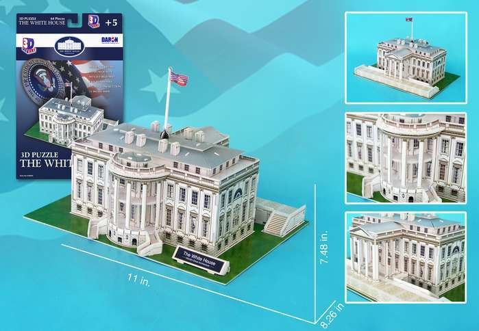 White House - 64pc 3D Jigsaw Puzzle by Daron