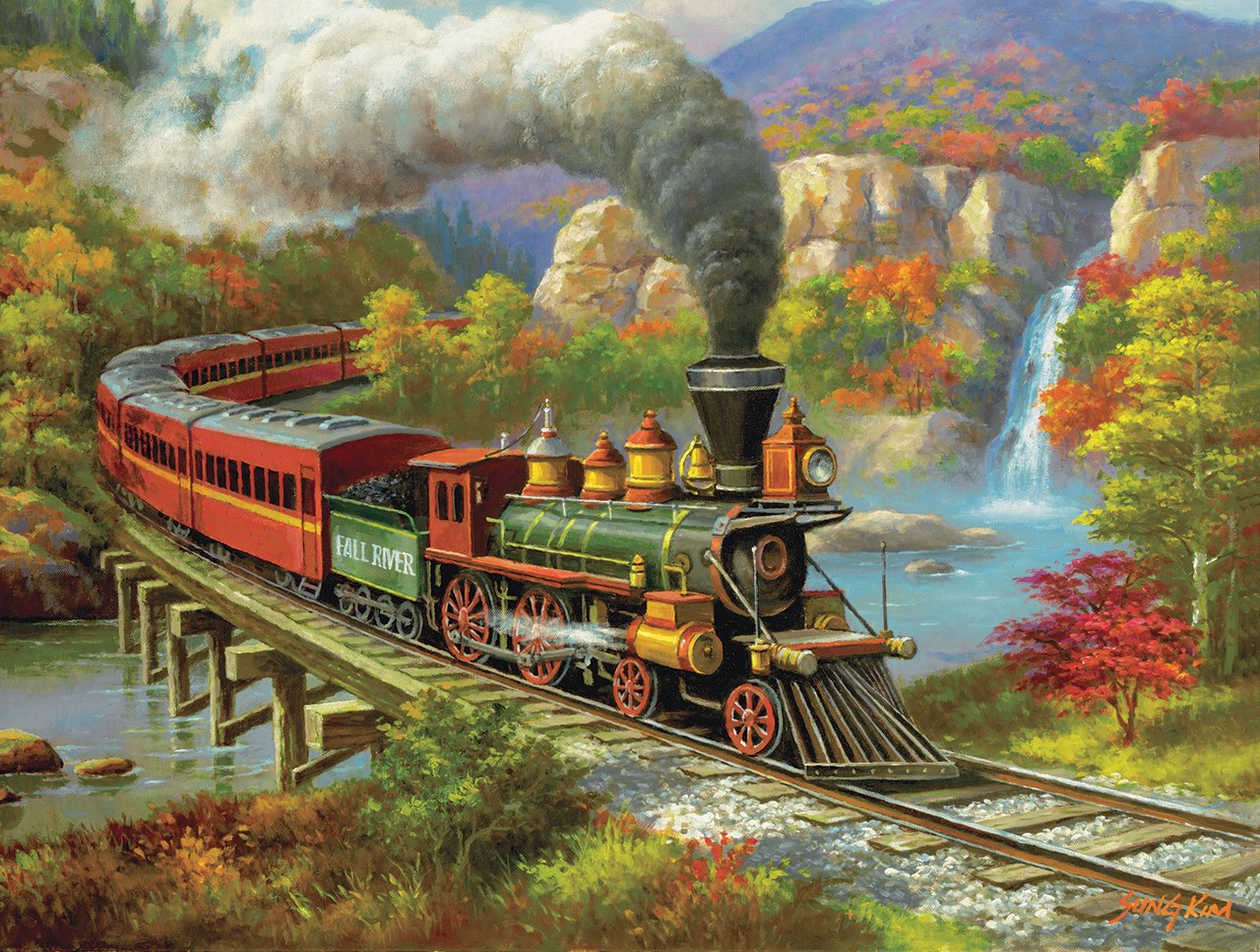 Fall River Ltd. - 500pc Jigsaw Puzzle By Sunsout  			  					NEW