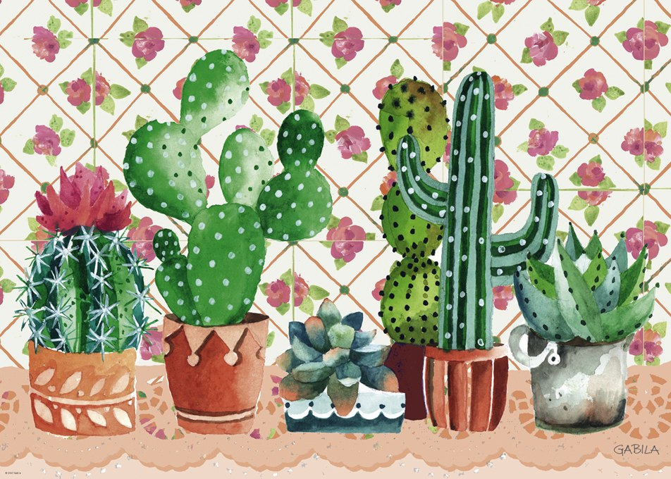 Cactus Family - 1000pc Jigsaw Puzzle By Heye  			  					NEW