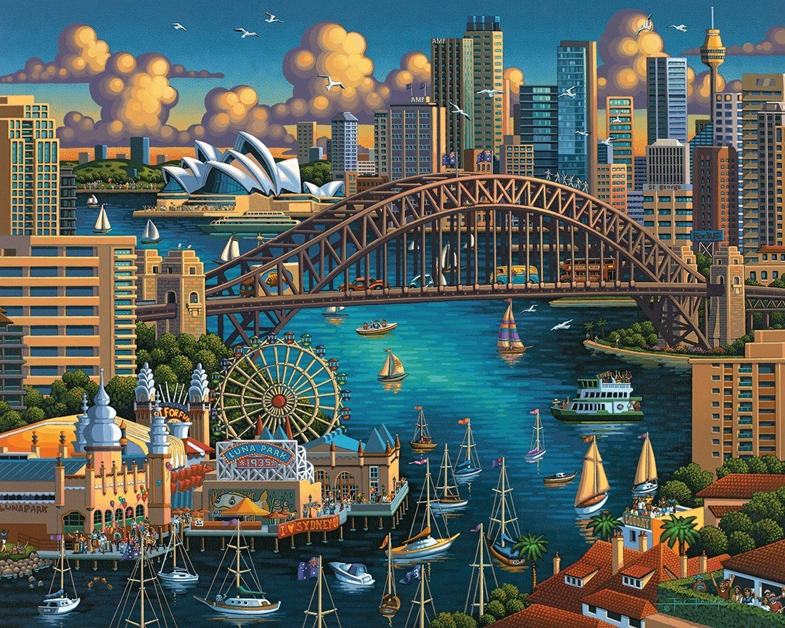 Sydney - 500pc Jigsaw Puzzle by Dowdle