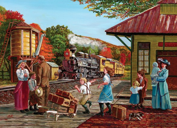 Waiting for the Train - 500pc Jigsaw Puzzle By Cobble Hill