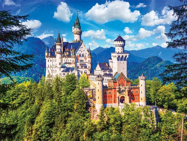Neuschwanstein Castle, Bavaria - 550pc Jigsaw Puzzle by Lafayette Puzzle Factory  			  					NEW