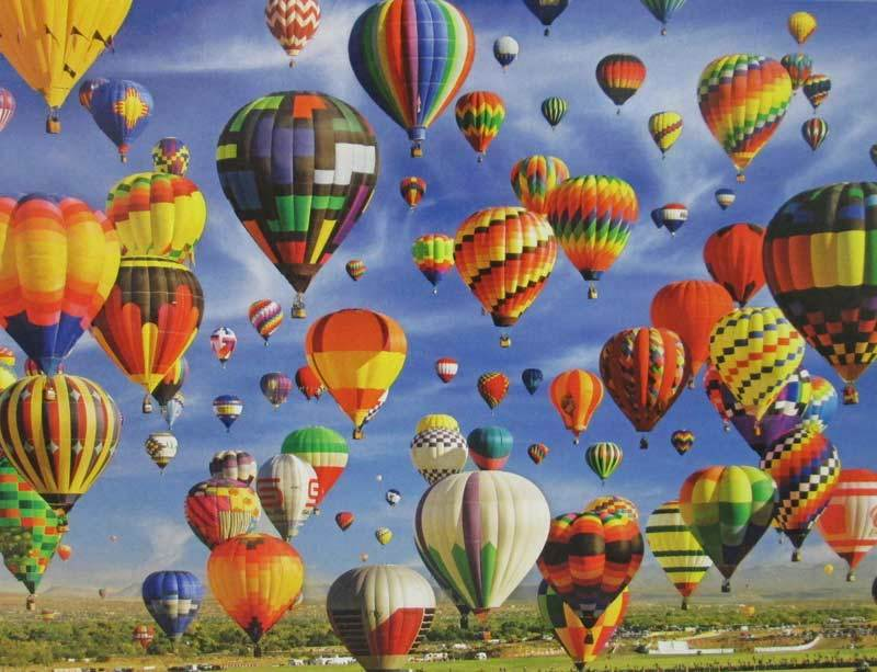 Hot Air Balloon Mass Ascension, Albuquerque  - 1000pc Jigsaw Puzzle by Lafayette Puzzle Factory  			  					NEW