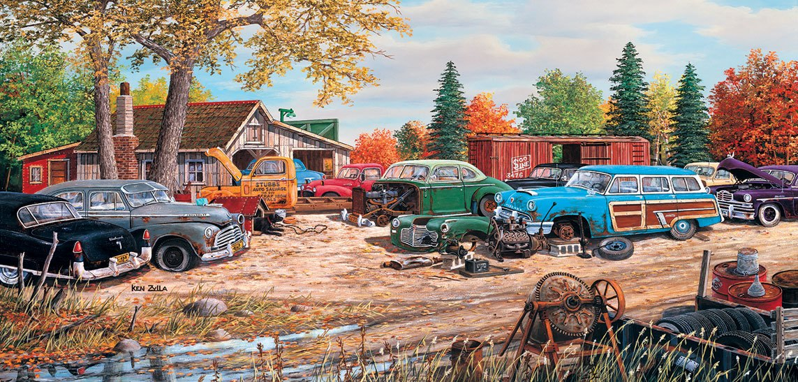 Junkyard Relics - 1000pc Jigsaw Puzzle by SunsOut