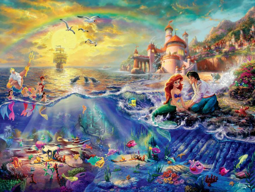 Thomas Kinkade Disney Dreams: The Little Mermaid - 750pc Jigsaw Puzzle by Ceaco