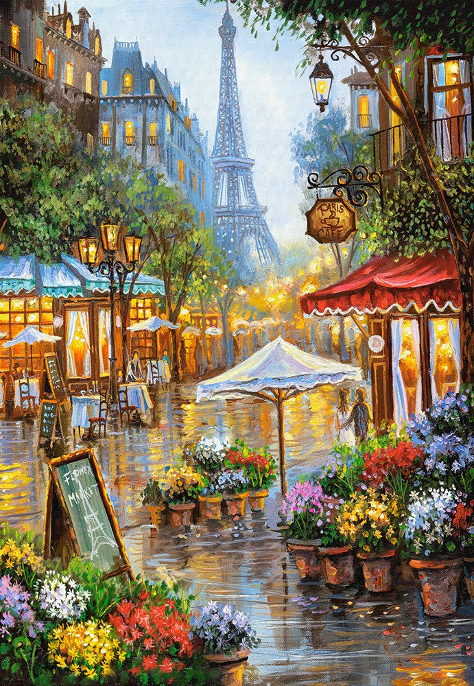 Spring Flowers, Paris - 1000pc Jigsaw Puzzle By Castorland  			  					NEW