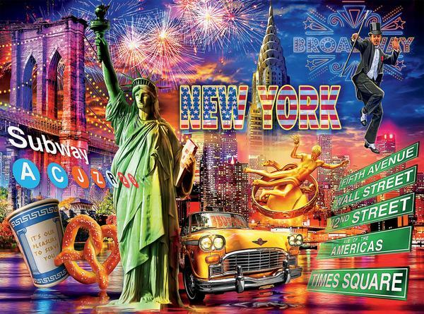 Cities: New York - 1000pc Jigsaw Puzzle by Ceaco  			  					NEW