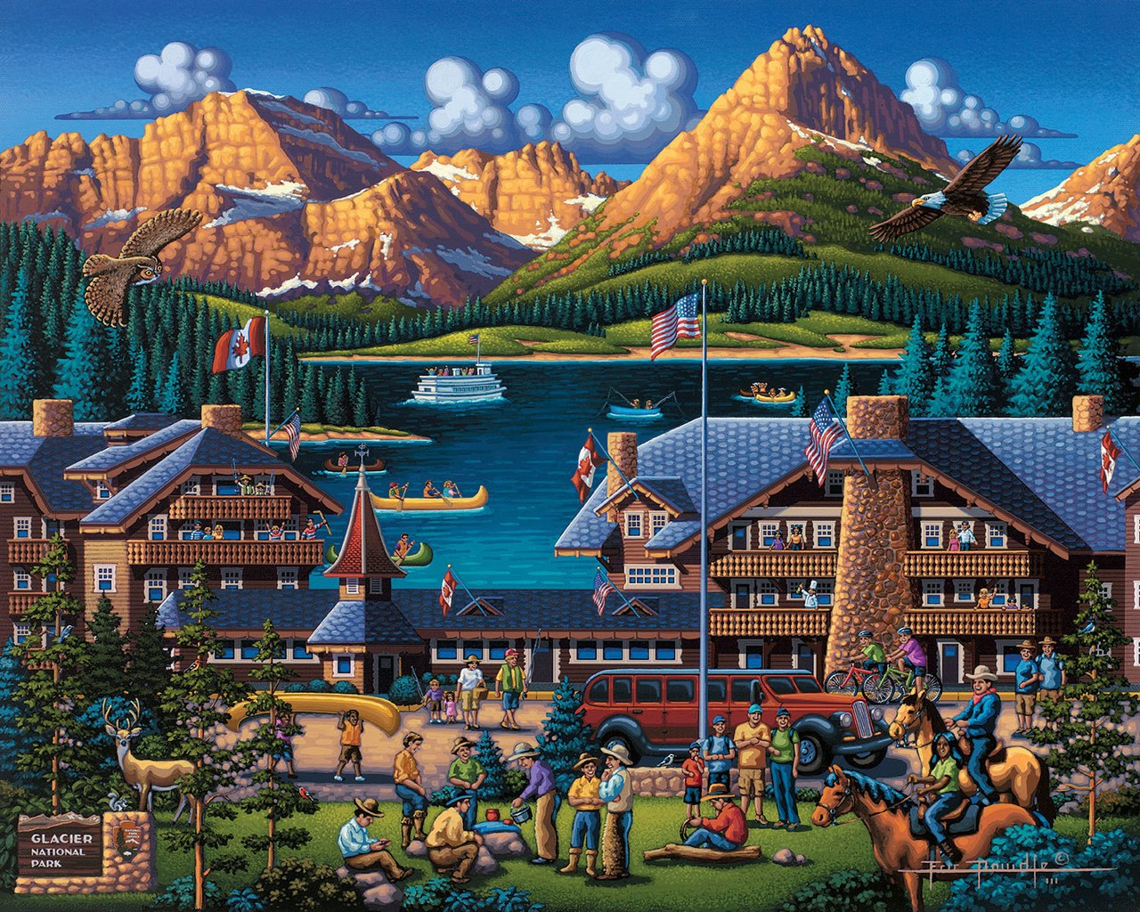 Glacier National Park - 500pc Jigsaw Puzzle by Dowdle  			  					NEW