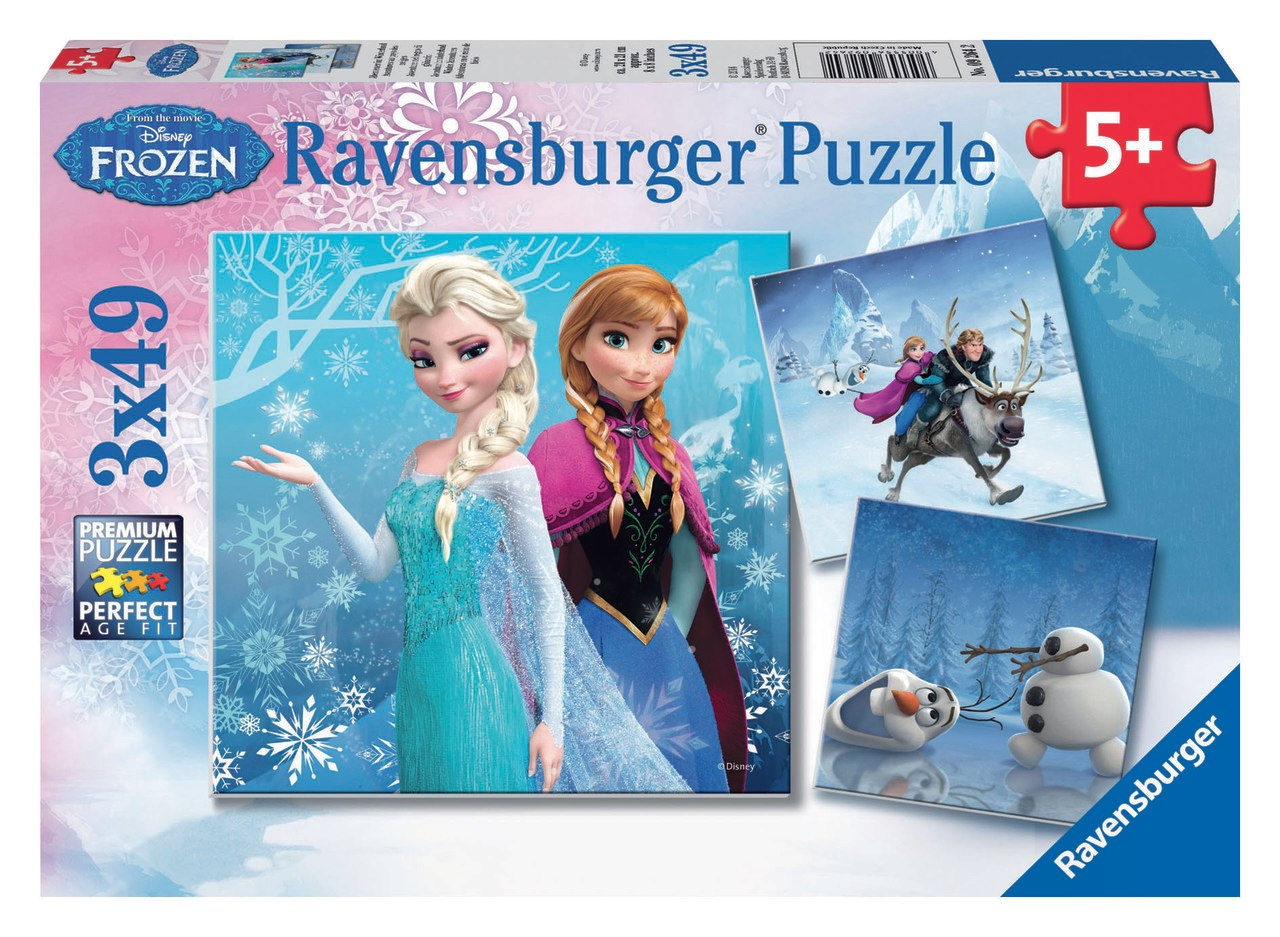 Frozen: Winter Adventures - 3x 49pc Jigsaw Puzzles by Ravensburger