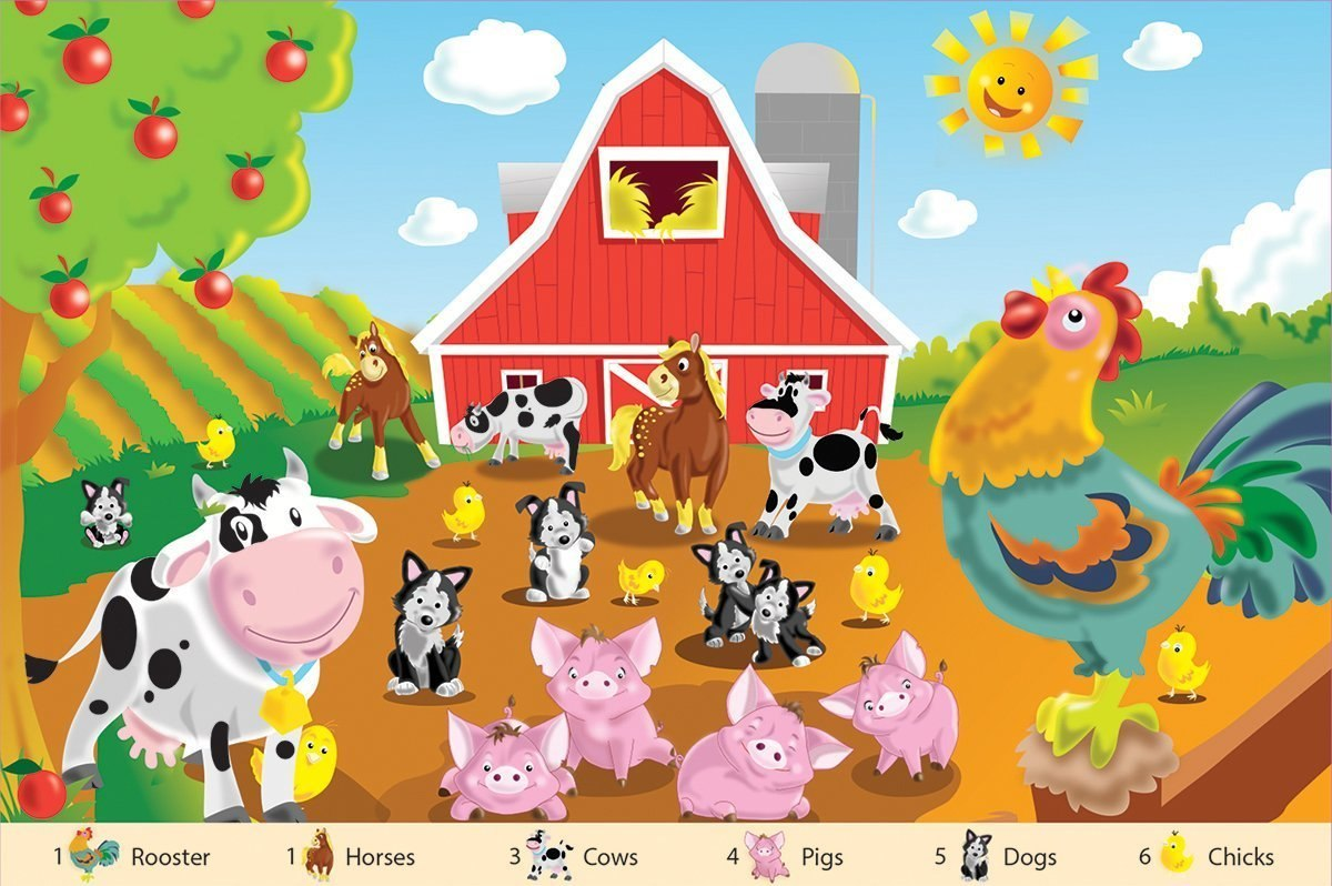 Farm Friends - 24pc Floor Jigsaw Puzzle By White Mountain  			  					NEW