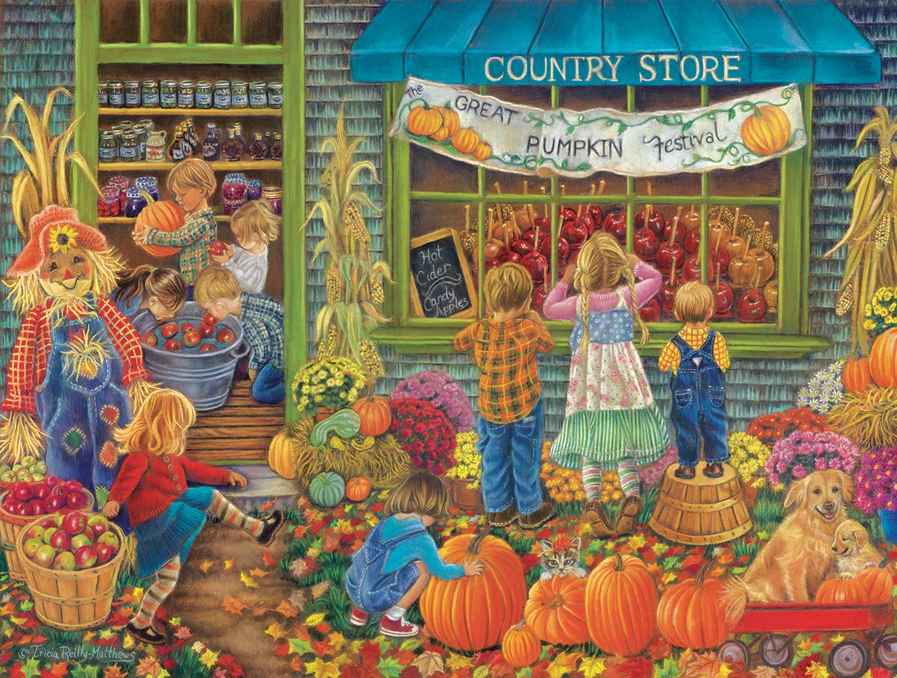 Great Pumpkin Festival - 500pc Jigsaw Puzzle By Sunsout  			  					NEW