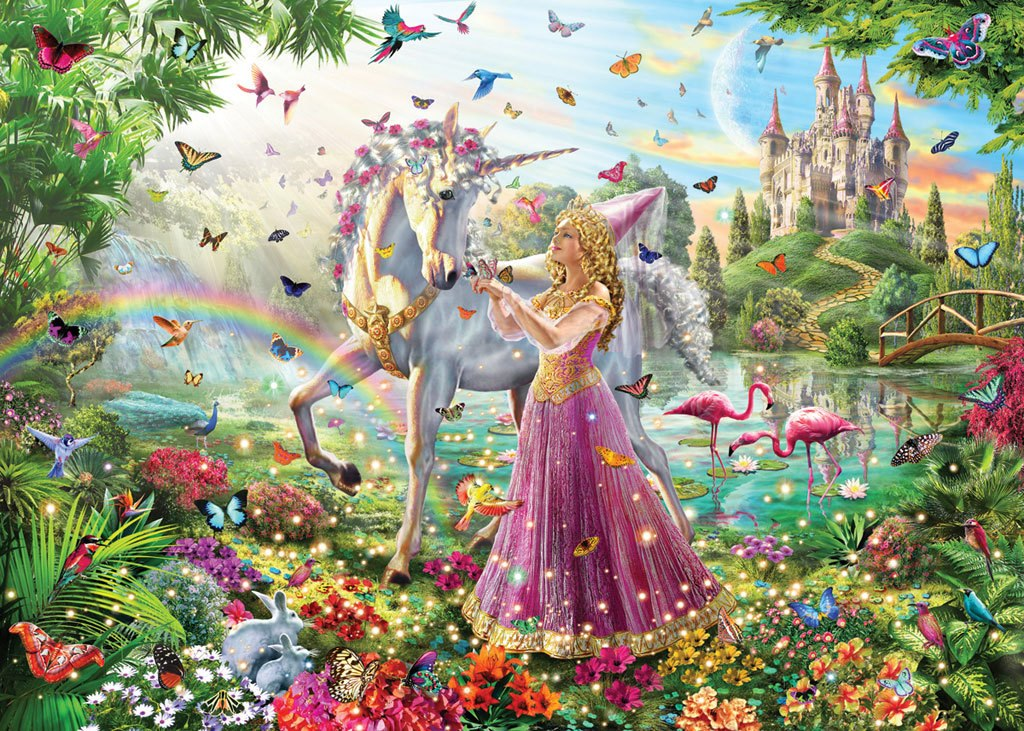Princess Unicorn - 100pc Jigsaw Puzzle by White Mountain