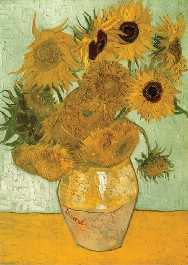 Sunflowers: Van Gogh - 1000pc Jigsaw Puzzle by D-Toys
