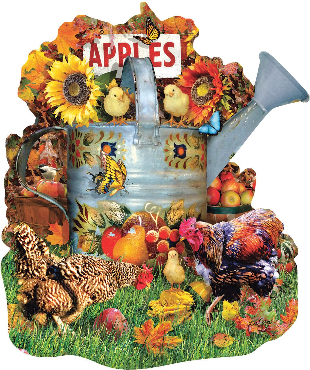 Fall Watering Can - 1000pc Jigsaw Puzzle by Sunsout  			  					NEW